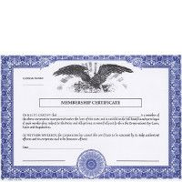 Regulate company members. Buy blank Non-Profit Certificates. Put in your books. Make good record-keeping cost-effective. Manufactured in New York.