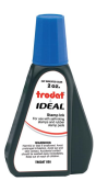Trodat IDEAL brand blue ink can be used to refill traditional stamp pads and most self-inking models.