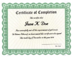 Need certificates for completion of a class, workshop, or seminar? Create a tangible reward. We'll custom print your unique award attributes onto beautiful, paper templates and ship right away for distribution.