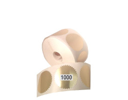 Get a 1000 roll of gold foil embossing labels to embellish your corporate seals.