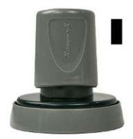 A seal impression inker makes embossings visible for fax, scan, or copy. The Xstamper uses high-quality, fast-drying black ink.