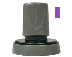 A seal impression inker makes embossings visible for fax, scan, or copy. The Xstamper uses high-quality, fast-drying violet ink.