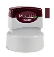 A seal impression inker makes embossings visible for fax, scan, or copy. Maxlight uses premium, fast-drying, dark red ink.