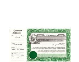 Incorporate in North Carolina? Formalize each shared record your company sells. Order certificates online. We ship blank, paper templates for distribution. Beautifully lithographed, state specific series by Goes.