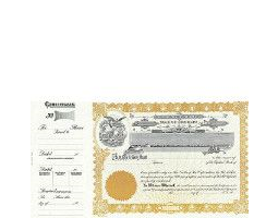 Incorporate in Colorado? Formalize each shared record your company sells. Order certificates online. We ship blank, paper templates for distribution. Beautifully lithographed, state specific series by Goes.