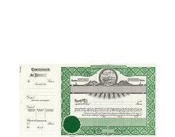 Incorporate in Kansas? Formalize each shared record your company sells. Get custom Stock Certificates online. We'll print and ship. Distribute beautifully lithographed paper objects by Goes.