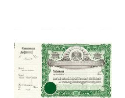 Incorporate in Louisiana? Formalize each shared record your company sells. Get custom Stock Certificates online. We'll print and ship. Distribute beautifully lithographed paper objects by Goes.