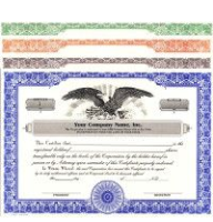 Record each share your company sells. Buy Stock Certificates online. We custom print and ship. Bears unique corporate info & standard wording. In-house HUBCO design.