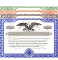 Record each share your company sells. Buy Stock Certificates online. We ship blank templates. You edit, distribute. HUBCO design. Standard wording.
