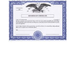 Regulate corporate membership. Get custom Non-profit Certificates online. We print and ship. Make good record-keeping simple. HUBCO Brand.