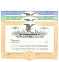 Formalize each shared record your company sells. Get custom Stock Certificates online. We print and ship. Fill out and distribute. Manufactured by Duke.