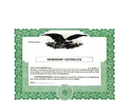 Regulate membership. Get Non-profit Certificates online. We ship blank templates. Fill & distribute to members. Blumberg Brand.