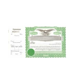Incorporated? Formalize each sold shared record. Blank Long Form Stock Certificate Templates contain Shares Each & Capital Text. Green-inked border designed by Goes.