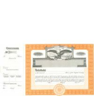 Incorporated? Formalize each sold shared record. Long Form Stock Certificates ship to your doorstep. Beautiful, Goes lithographed orange borders. Contain Capital Text.