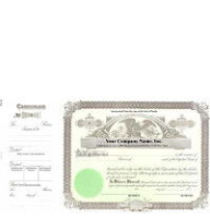 Need stock certificates with shares each, par entry, & capital text? A team of business service professionals will print long form, paper templates to also include unique company details.