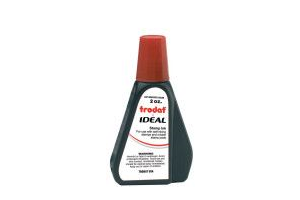 Trodat IDEAL brand red ink can be used to refill traditional stamp pads and most self-inking models.