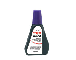 Trodat IDEAL brand purple ink can be used to refill traditional stamp pads and most self-inking models.