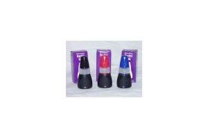 Choose black, red, purple, blue, or green oil-based ink to refill your favorite Xstamper products.