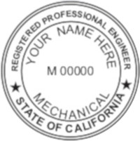 California PE Seal