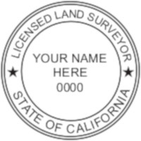 California Professional Surveyor Seal
