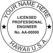 Hawaii PE Seal