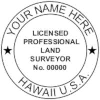 Hawaii Professional Surveyor Seal