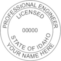 Idaho PE Seal