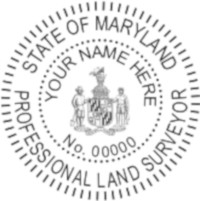 Maryland Professional Surveyor Seal
