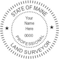 Maine Professional Surveyor Seal