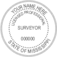 Mississippi Professional Surveyor Seal