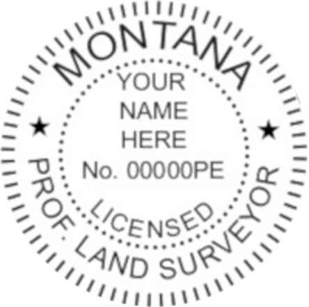 Montana Professional Surveyor Seal