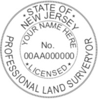 New Jersey Professional Surveyor Seal