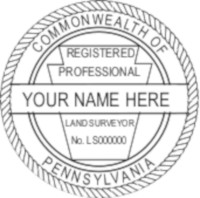 Pennsylvania Professional Surveyor Seal