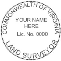 Virginia Professional Surveyor Seal