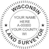 Wisconsin Professional Surveyor Seal