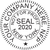 Digital corporate seals comply with standards set forth in Adobe, DocuSign document management software. Generate an image online for instant download.