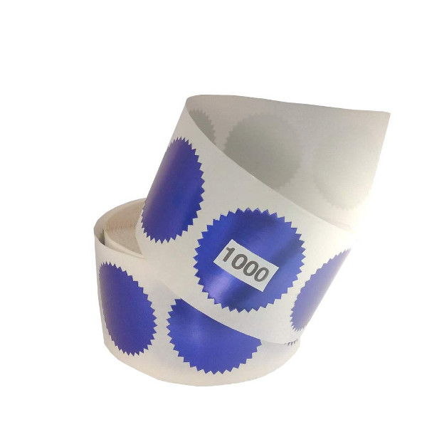 Get a 1000 roll of blue foil embossing labels to embellish your corporate seals.