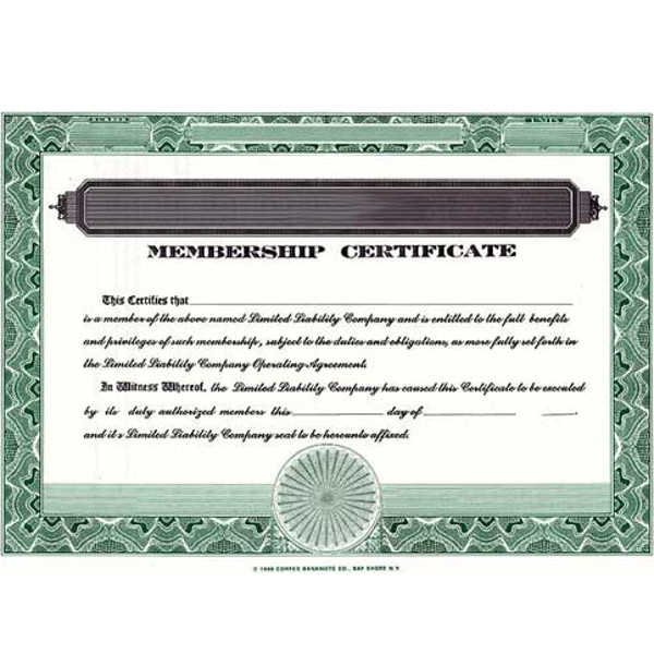 Regulate company members. Buy blank LLC Certificates. We Ship Templates. Cost-effective, DIY record-keeping. By CORPEX.