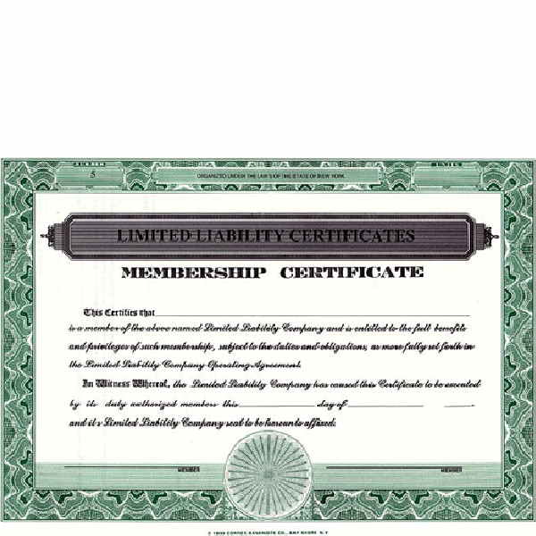 Regulate company members. Get custom LLC Certificates online. We print and ship. Make good record-keeping simple. Manufactured by CORPEX.