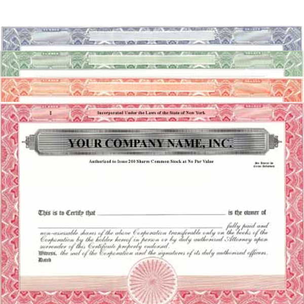 Formalize each shared record your company sells. Get custom Stock Certificates online. We print and ship. Simple, clean design by Mark's Corpex.