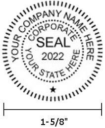 Company Seal Example - 1.6-inch Diameter