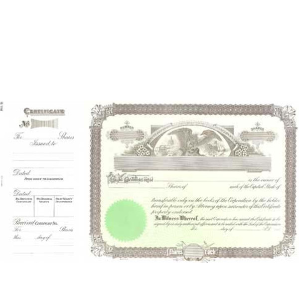 Incorporated? Formalize each sold shared record. Blank Long Form Stock Certificate Templates contain Shares Each, Par Entry, & Capital Text. Standard Wording.