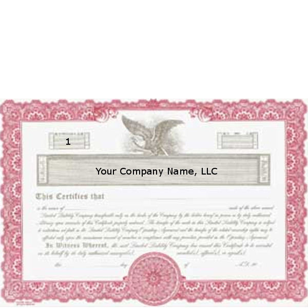Regulate membership. Get custom LLC Certificates online. We print and ship. Makes corporate record-keeping simple. Goes lithographing.