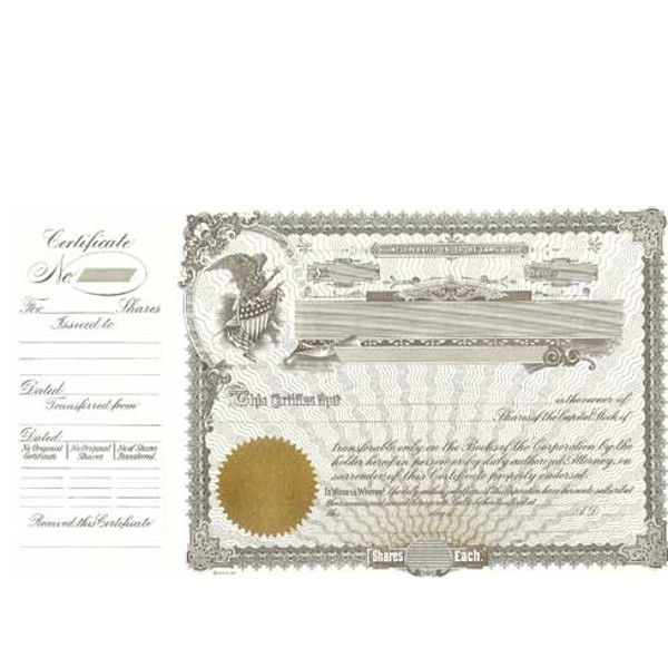 Incorporated? Formalize each sold shared record. Blank Long Form Stock Certificate Templates contain Shares Each & Capital Text. Standard Wording.