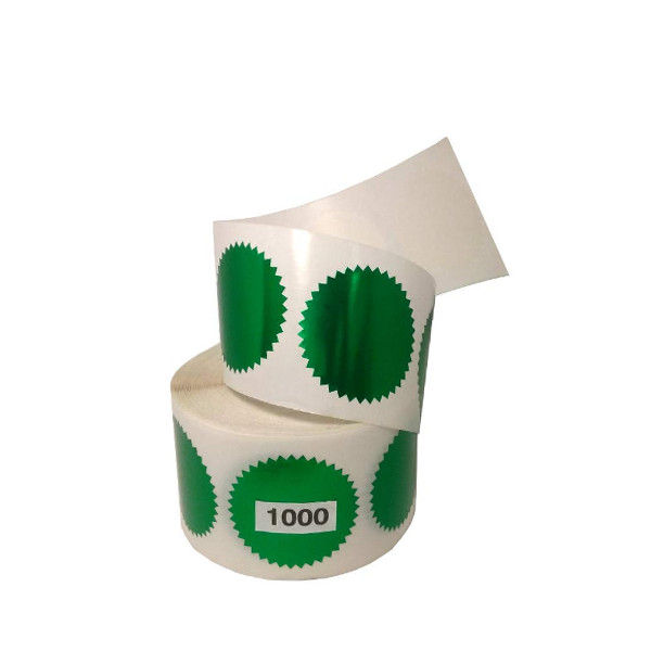 Get a 1000 roll of green foil embossing labels to embellish your corporate seals.