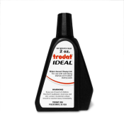 Trodat IDEAL brand black ink can be used to refill traditional stamp pads and most self-inking models.