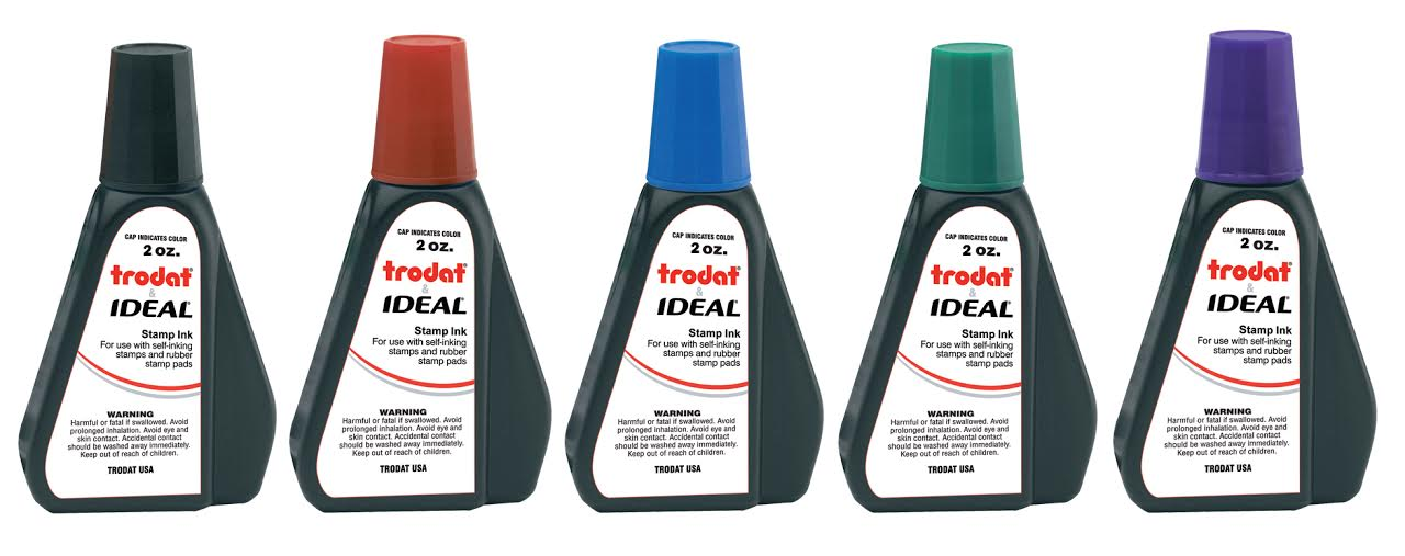 Trodat Stamp Ink - All 5 Varieties