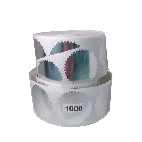 Get a 1000 roll of Silver foil embossing labels to embellish your corporate seals.