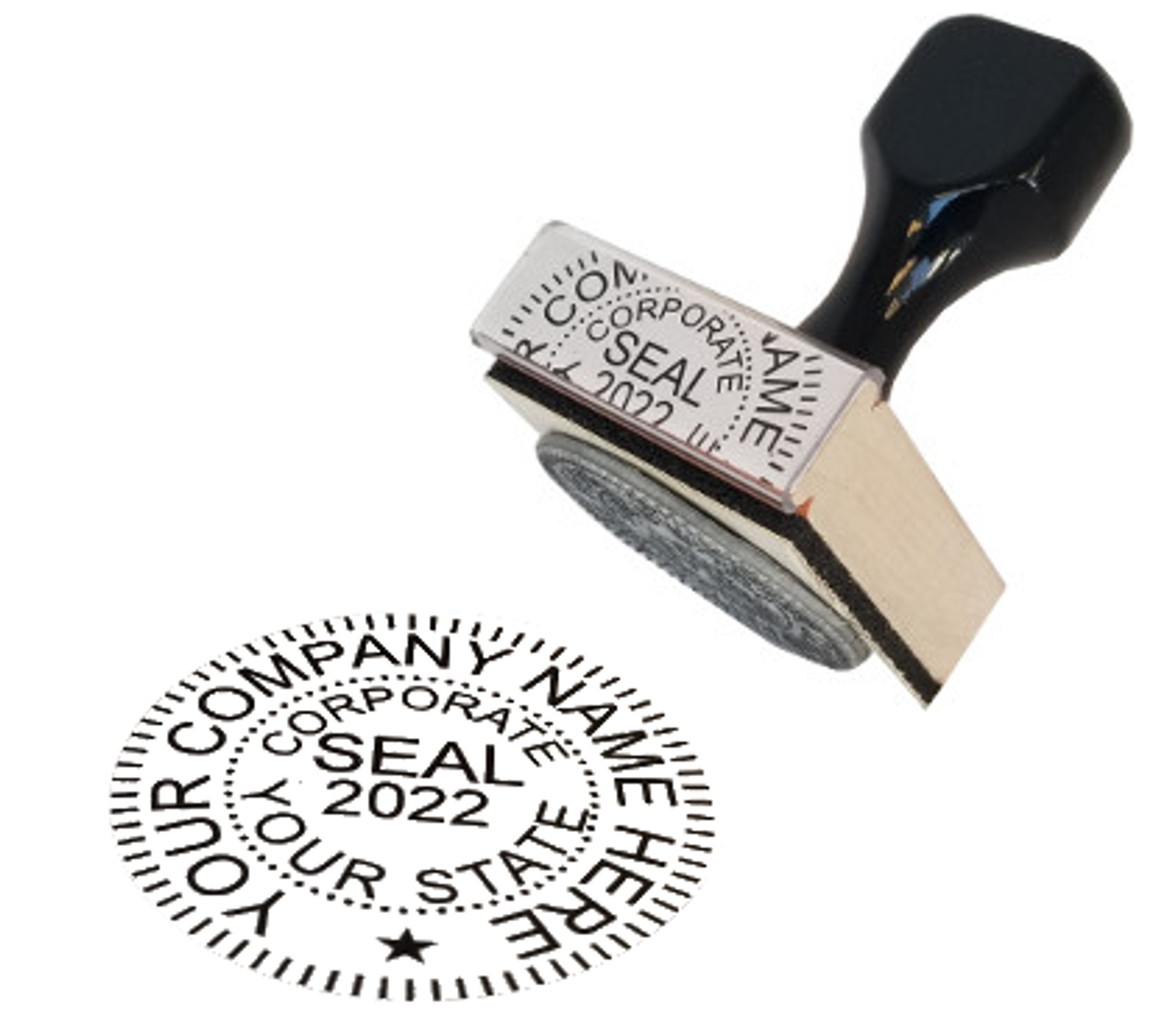 Rubber Hand Stamp - In Action