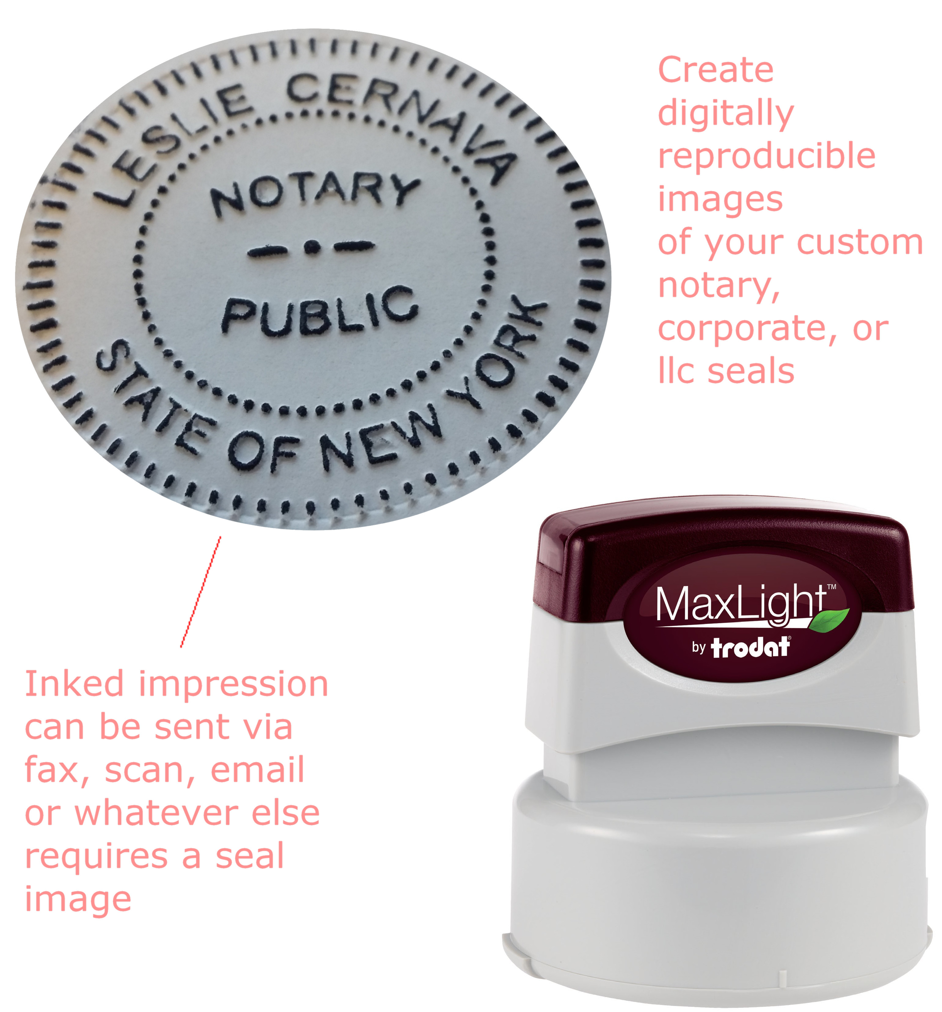 How to use a seal impression inker